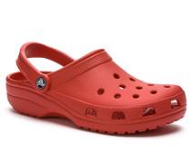 Herren Schuhe Pantoletten, Gummi, rot