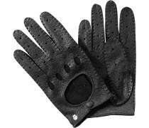 Herren Autofahrer-Handschuhe, Peccaryleder, schwarz