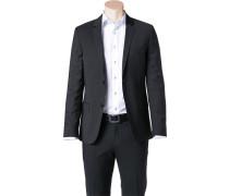 Herren Sakko Fitted Wolle Super100 schwarz