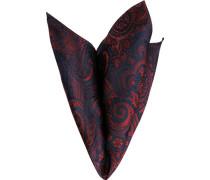 Herren Accessoires Einstecktuch, Seide, paisley rot