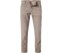 Jeans, Baumwoll-Stretch 9oz, camel