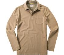 Herren Polo-Shirt Baumwoll-Jersey camel beige