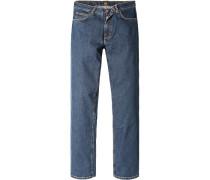 Herren Jeans Regular Fit Baumwoll-Stretch graublau