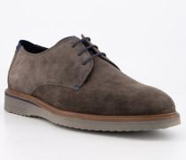 Schuhe Derby Veloursleder extraweit braun