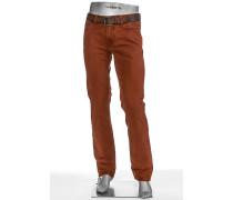 Herren Jeans Regular Slim Fit Pima Cotton orangebraun