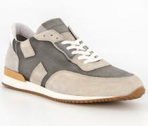 Schuhe Sneaker, Leder, grigio