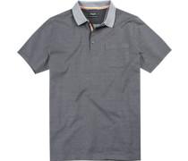 Herren Polo-Shirt, Baumwolle mercerisiert, grau gepunktet