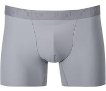 Herren Unterwäsche Trunk Microfaser-Stretch grau