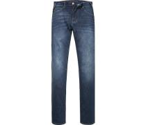 Herren Jeans Slim Fit Baumwolle dunkelblau