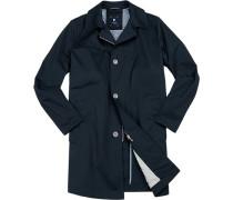 Herren Mantel, Baumwolle Cool Cotton, navy blau