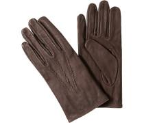 Herren Handschuhe, Rindleder, schokobraun