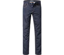 Herren Jeans Modern Fit Baumwoll-Stretch dunkel