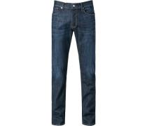 Herren Jeans, Regular Fit, Baumwolle, indigo blau