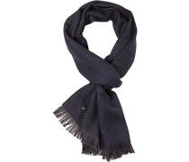 Herren Schal, Wolle, nachtblau-anthrazit