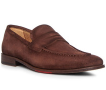 Schuhe Loafer Veloursleder marrone