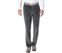 Herren Cordhose Parma, Contemporary Fit, Baumwolle, graphit grau