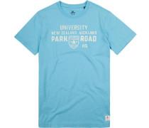 Herren T-Shirt, Baumwolle, azurblau