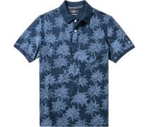 Herren Polo-Shirt Baumwolle indigo