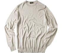 Herren Pullover Seiden-Kaschmir-Mix