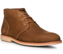 Herren Schuhe Desert Boots, Veloursleder, cognac braun