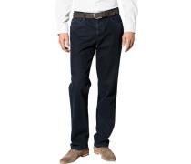 Herren Jeans Baumwoll-Stretch dunkelblau