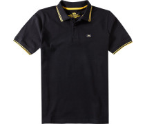 Herren Polo-Shirt Baumwoll-Piqué schwarz-gelb