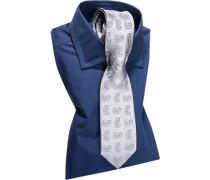 Herren Hemd mit Krawatte blau