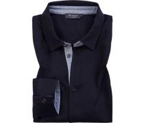 Herren Hemd, Jersey, navy blau