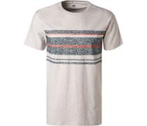 T-Shirt, Baumwolle, kitt meliert