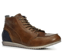 Herren Sneaker Jeans-Leder braun