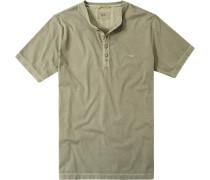Herren T-Shirt Baumwolle oliv