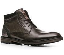 Herren Schuhe Stiefeletten Kalbleder anthrazit grau,schwarz,schwarz