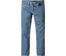 Herren Jeans Baumwoll-Mix jeansblau