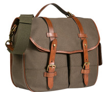 Herren  POLO RALPH LAUREN Messenger Bag Baumwoll-Canvas olive grün