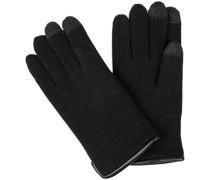 Herren Handschuhe, Merinowolle, schwarz