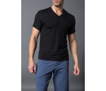 Herren T-Shirt Micromodal-Stretch schwarz