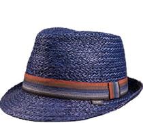 Herren Strohhut blau