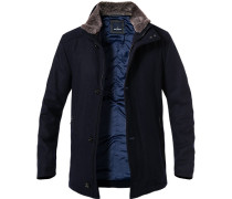 Mantel Wolle navy