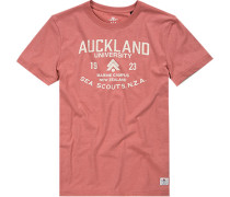 Herren T-Shirt Baumwolle koralle rot