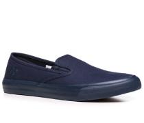 Herren Schuhe Slip Ons Canvas dunkelblau