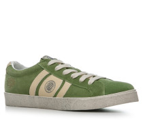 Herren Schuhe Sneaker Veloursleder kiwigrün