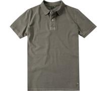 Herren Polo-Shirt Baumwoll-Jersey oliv grün