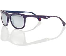 Herren Brillen Sonnenbrille, Kunststoff, violett lila