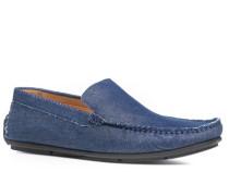 Herren Mokassin Jeans dunkelblau blau,braun