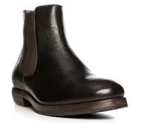 Herren Schuhe Chelsea Boots, Leder, dunkelbraun
