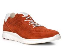 Herren Schuhe ALDO Veloursleder rot