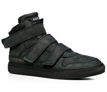 Herren Schuhe Sneaker Nubukleder schwarz schwarz,blau