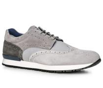 Herren Schuhe Sneaker, Textil-Leder, grau