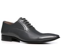 Herren Schuhe Oxford, Leder beschichtet, grau
