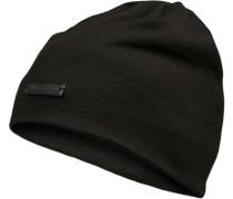 Herren Mütze Wolle schwarz